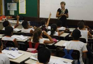 Alunos do 2º ano do ensino fundamental deescolas públicas e privadas serão avaliados com testes de Língua Portuguesa e Matemática Foto: Fabiano Rocha / Fabiano Rocha