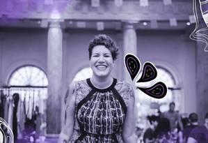 Carolina Herszenhut é embaixadora do projeto Iris, que busca igualdade de gênero Foto: Arte de Luiz Lopes sobre foto de Divulgação