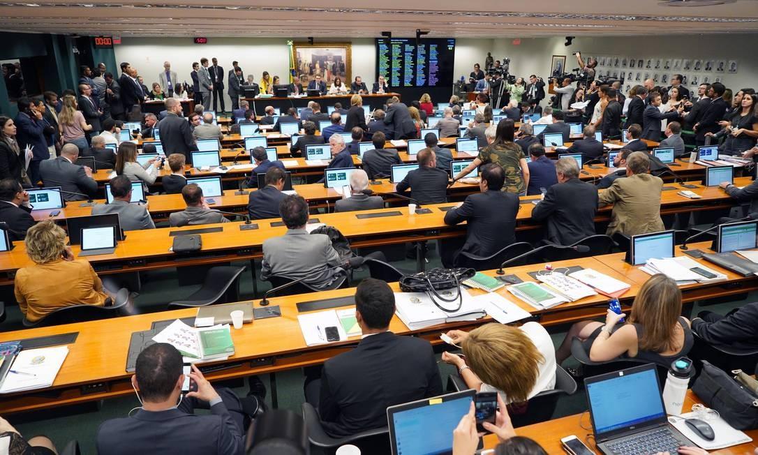 Discussão da reforma da Previdência na Comissão de Constituição e Justiça (CCJ) da Câmara Foto: Pablo Valadares / Câmara dos Deputados