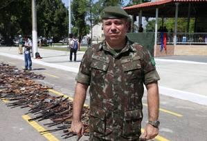 Tenente-coronel Alexandre de Almeida. O militar era a mais importante autoridade do setor no controle de armas que circulam no Rio de Janeiro e Espírito Santo Foto: Divulgação