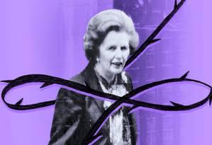 Dama de ferro: chegada de Margaret Thatcher ao poder completa 40 anos Foto: Arte de Christiano Benício sobre foto de AFP