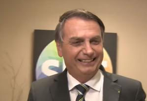 Jair Bolsonaro em entrevista ao SBT veiculada nesta quinta-feira, 2, no Jornal do SBT Foto: Reprodução