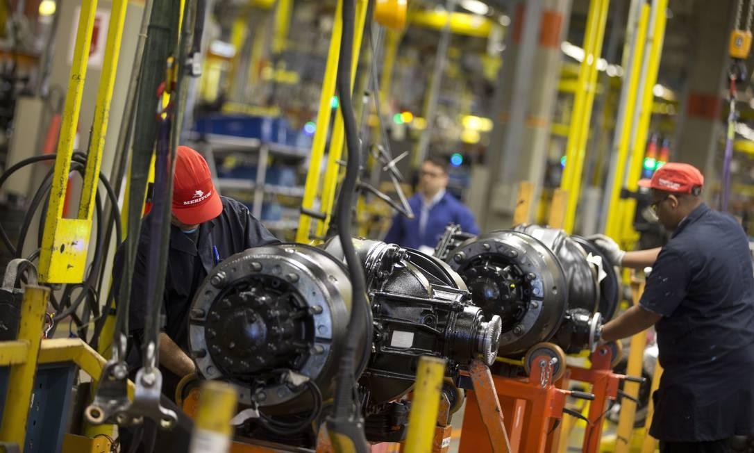Fábrica de automóveis no Estado do Rio. Resultado da indústria decepcionou Foto: Márcia Foletto / Agência O Globo