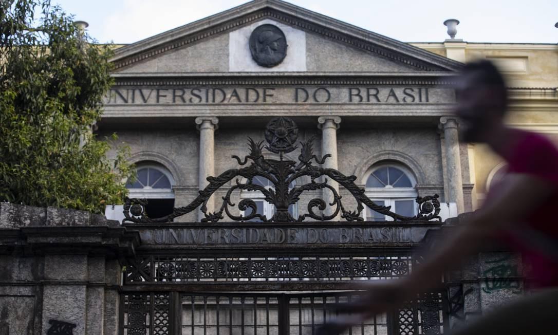 Predio da UFRJ na Urca; insituição já sofre com cortes do MEC Foto: Alexandre Cassiano / Agência O Globo