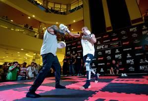 José Aldo durante evento do UFC no ano passado; organização turbinou atrações para este ano Foto: Alexandre Loureiro / Foto