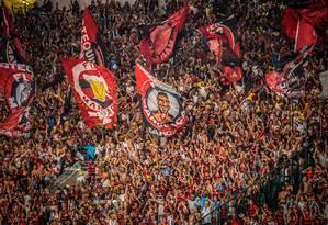 Torcida do Flamengo no Maracanã Foto: Divulgação