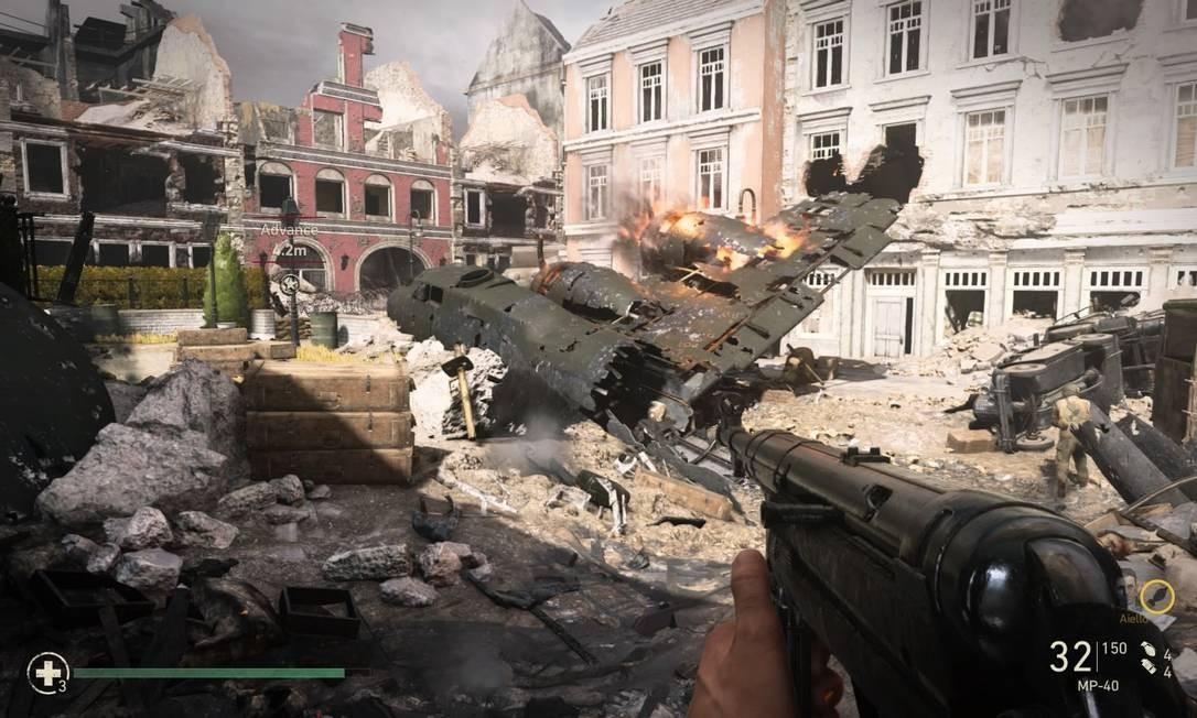 Cena do game Call of Duty: WWII. Foto: Reprodução / Arquivo