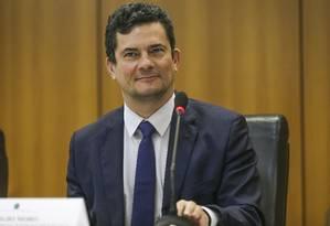 O ministro da Justiça e Segurança Pública, Sergio Moro 02/05/2019 Foto: José Cruz/Agência Brasil / Agência O Globo