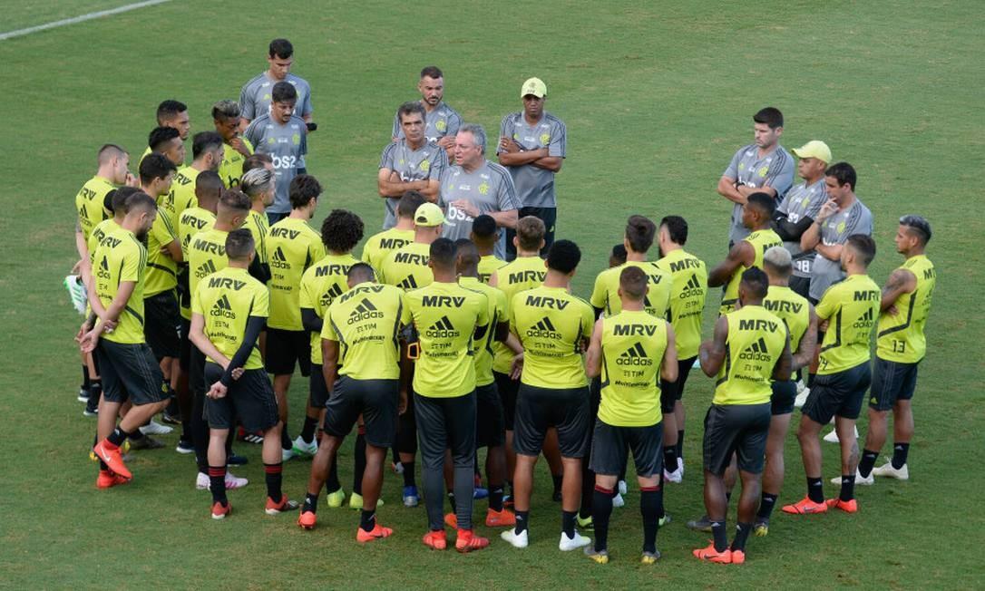 Abel prepara time reserva para domingo Foto: Alexandre Vidal/Flamengo