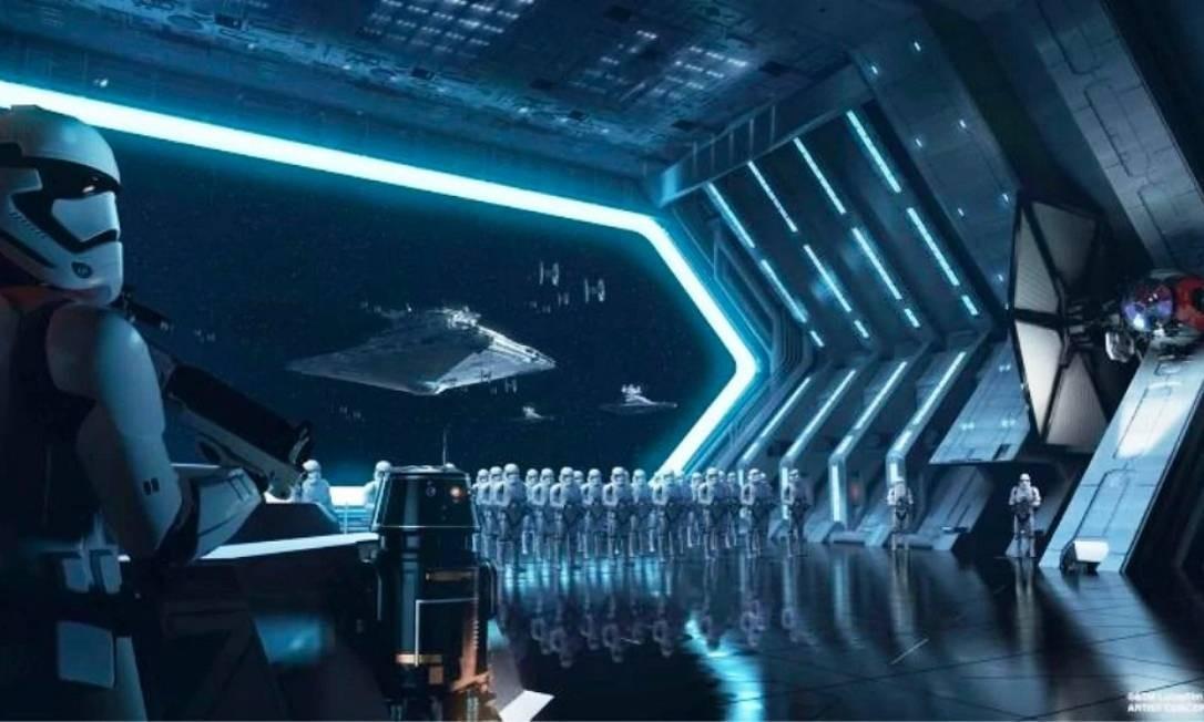 Mais um trecho de Star Wars: Rise of Resistance Foto: Disney Parks / Divulgação