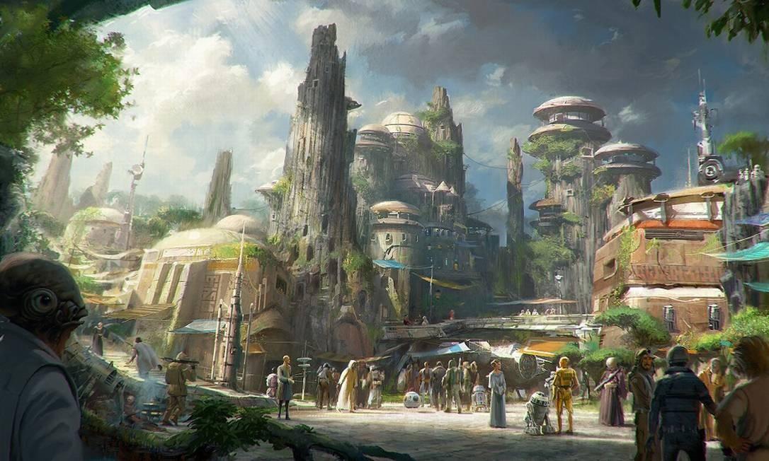 Assim será Black Spire Outpost, no planeta Batuu Foto: Disney Parks / Divulgação