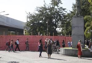 NIT Niteroi (RJ) 30/04/2019 - Obra na Praça Arariboia no Centro de Niteroi RJ , Fotos : Fabio Guimaraes / Agencia O Globo. Foto: Fábio Guimarães / Agência O Globo