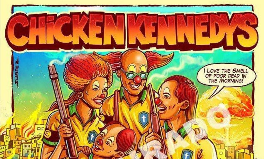 Pôster feito a partir de cartaz da turnê dos Dead Kennedys no Brasil Foto: Reprodução