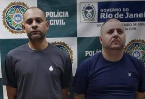 Paulo Roberto Carvalho Martins e Antonio Carlos dos Santos Pinto fazem parte de milícia que atua na Zona Oeste e na Baixada Fluminense Foto: Divulgação