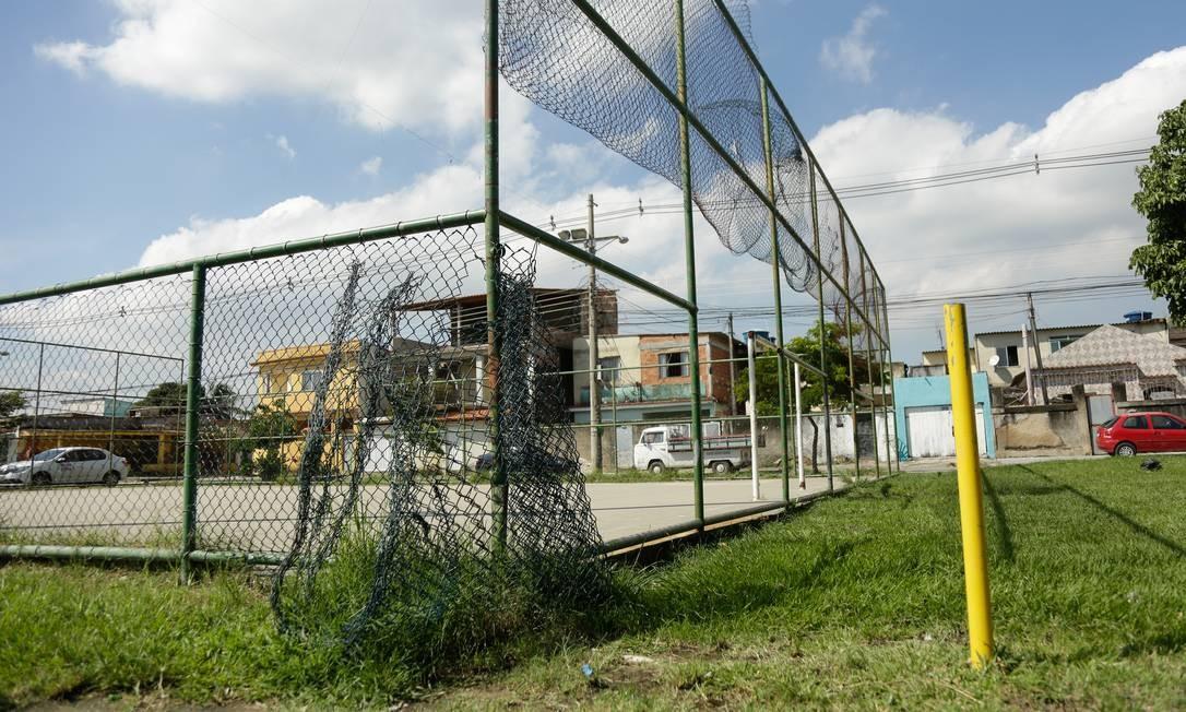 A Praça Pirapozinho, em Paciência: reforma custará R$ 438 mil Foto: Brenno Carvalho