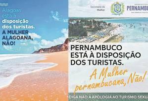 Propagandas oficiais contra a 'apologia ao turismo sexual' foram publicadas nas redes sociais após declaração de Bolsonaro sobre o tema Foto: Reprodução