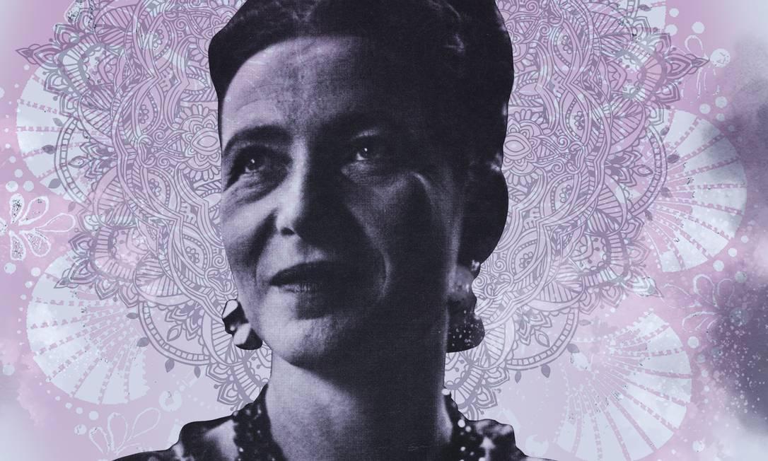 A filósofa francesa Simone de Beauvoir Foto: Arte de Alvim