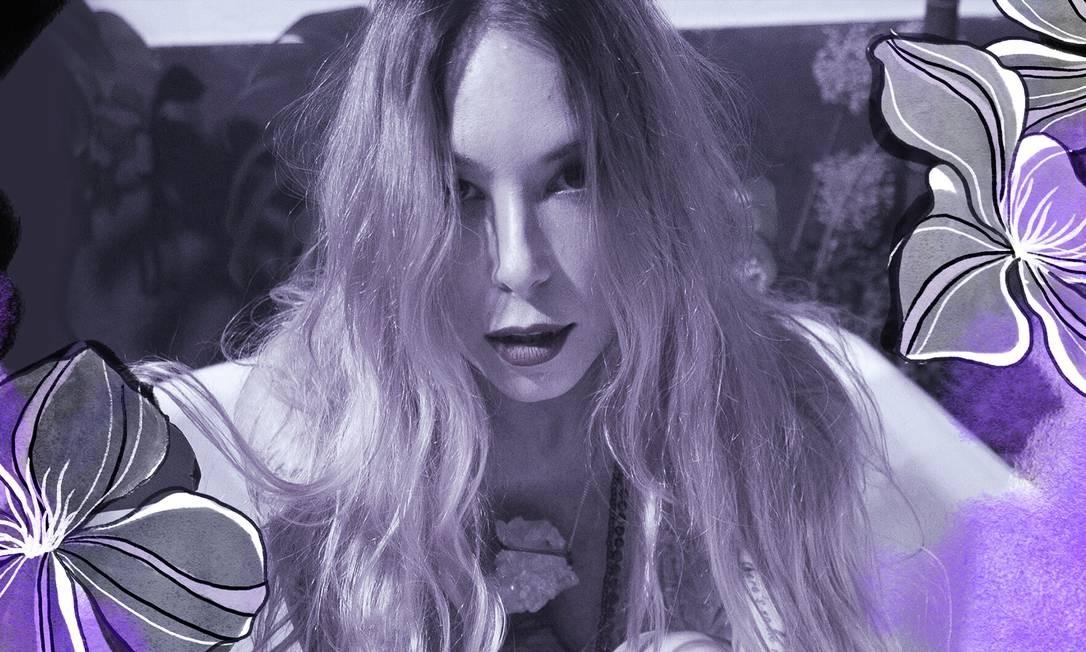 Carol Teixeira, filósofa, escritora e terapeuta tântrica Foto: Arte de Ana Luiza Costa sobre foto divugação