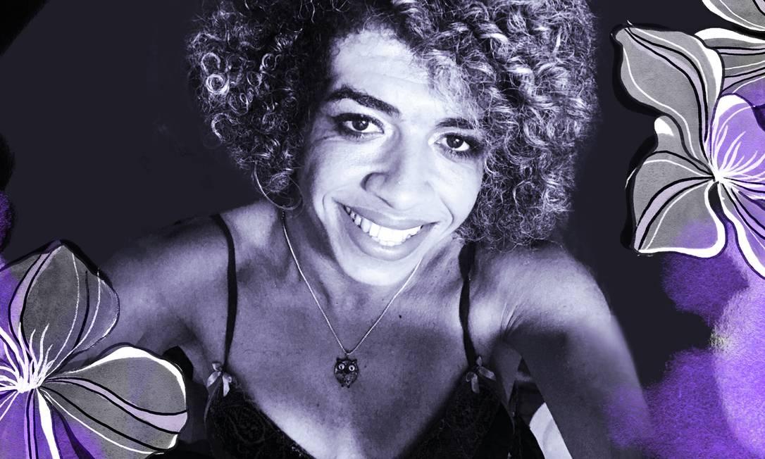 Fran Demétrio, transfeminista negra e professora adjunta da Universidade Federal do Recôncavo da Bahia (UFRB) Foto: Arte de Ana Luiza Costa sobre foto de arquivo