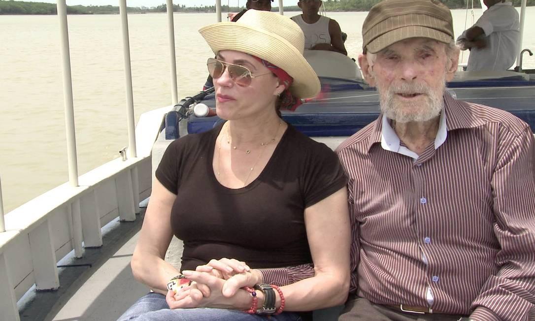 Christiane Torloni e Frans Krajcberg em 'Amazônia - o desperta da florestania' Foto: Divulgação