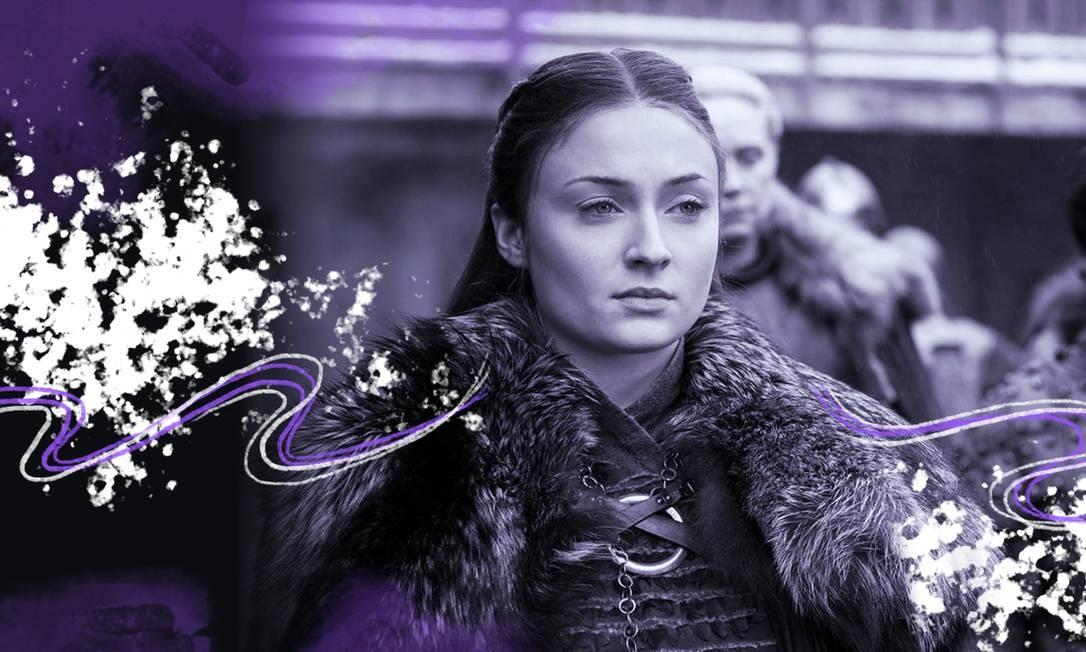 Sansa poderia ter se tornado esse mulherão sem ter passado por atrocidades Foto: Arte sobre foto reprodução