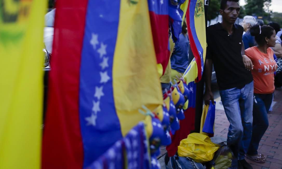 Manifestantes na Venezuela Foto: Eva Marie Uzcategui / Getty Images
