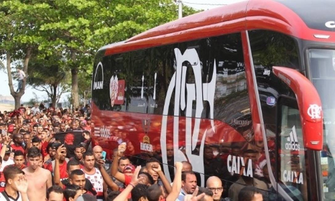 Flamengo reforça segurança e torcedores serão escoltados em Montevidéu Foto: Gilvan de Souza/Flamengo / Gilvan de Souza/Flamengo