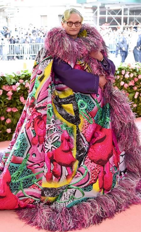 Hamish Bowles mostrou a sua interpretação para a moda camp Foto: Jamie McCarthy/AFP