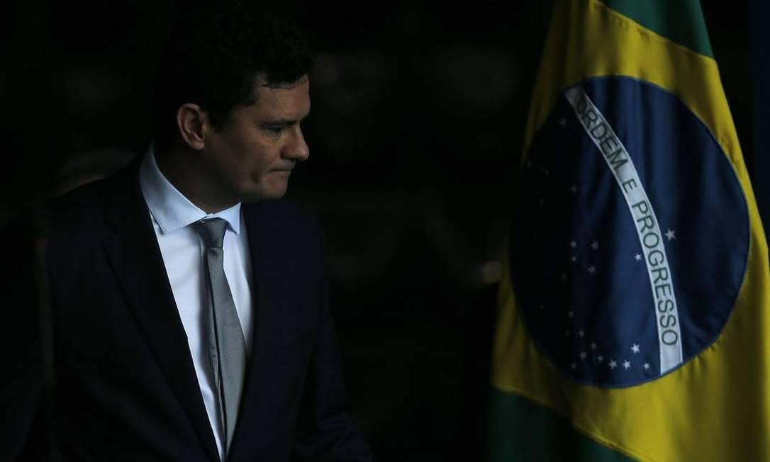 O ministro da Justiça Sergio Moro Foto: Jorge William / Agência O Globo