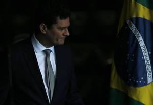 O ministro da Justiça, Sergio Moro Foto: Jorge William / Agência O Globo