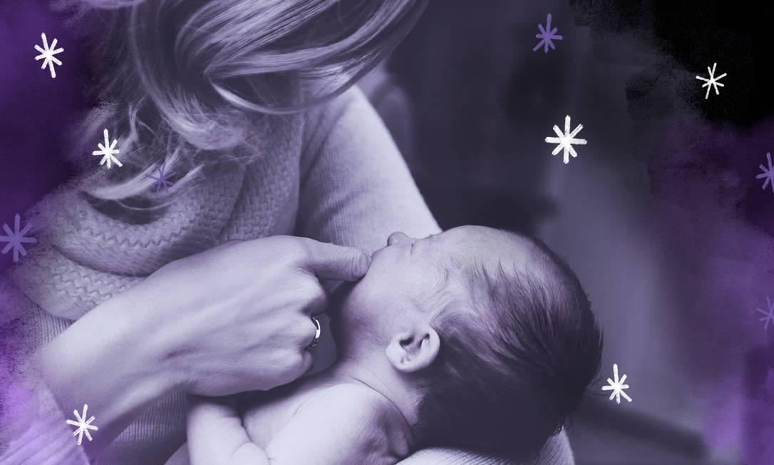 Depressão durante a gravidez é prejudicial tanto para a mulher quanto para o bebê e é um fator de risco importante para depressão pós-parto Foto: Arte de Ana Luiza Costa sobre foto do Pixabay
