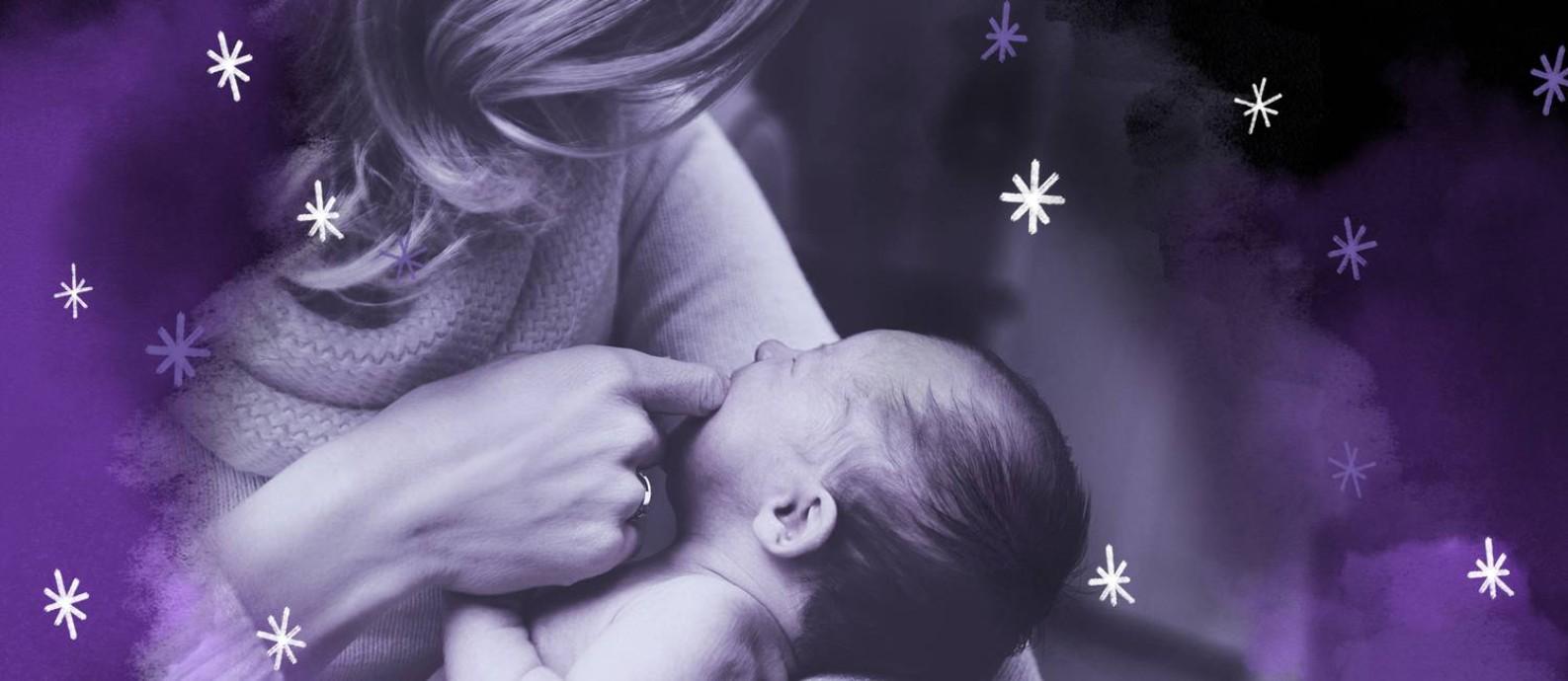 """""""As pessoas dizem que quando nasce um filho, nasce uma mãe. Mas a mãe é construída com o tempo"""" Foto: Arte de Ana Luiza Costa sobre foto do Pixabay"""