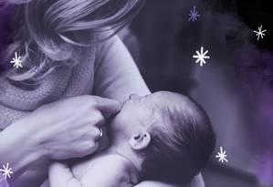 Nos idos do século passado foi imposta às mulheres uma simetria entre o feminino e a maternidade, apoiada na teoria de que nascemos na falta e que a possibilidade de se constituir mulher passaria pelo nascimento de uma criança. Por que ainda somos afetadas por esse discurso? Foto: Arte de Ana Luiza Costa sobre foto do Pixabay