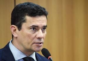 O ministro Sergio Moro Foto: Agência O Globo