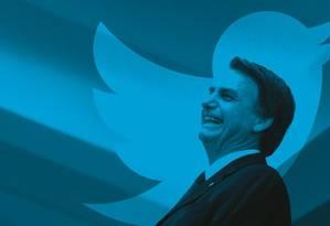 Postagens de Bolsonaro são usadas para anúncios, perseguições, desmentidos e acusações. Uma verdadeira balbúrdia Foto: Montagem sobre foto de Leo Pinheiro / Valor