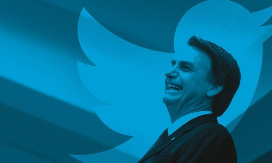 Postagens de Bolsonaro são usadas para anúncios, perseguições, desmentidos e acusações. Uma verdadeira balbúrdia. Foto: Montagem sobre foto de Leo Pinheiro / Valor