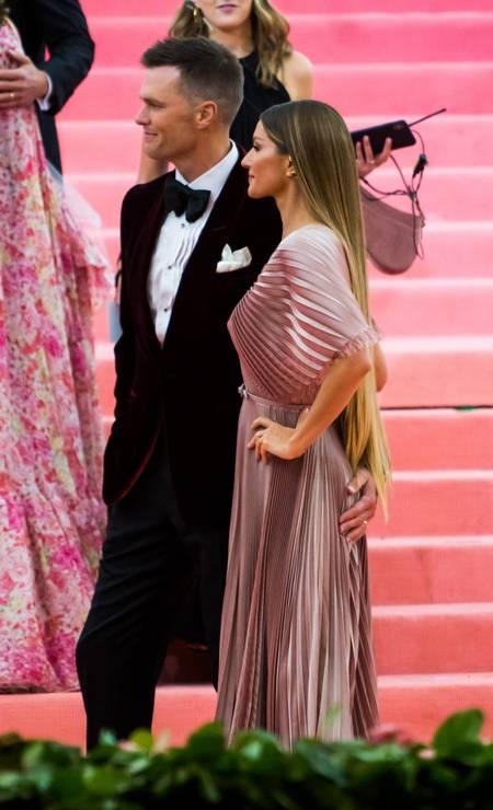 Gisele e Tom Brady no baile de gala do MET Foto: Gotham / GC Images