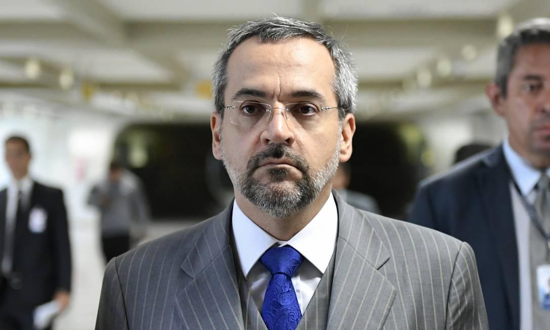 Ministro da Educação, Abraham Weintraub, chega ao Senado Foto: Pedro França / Agência Senado