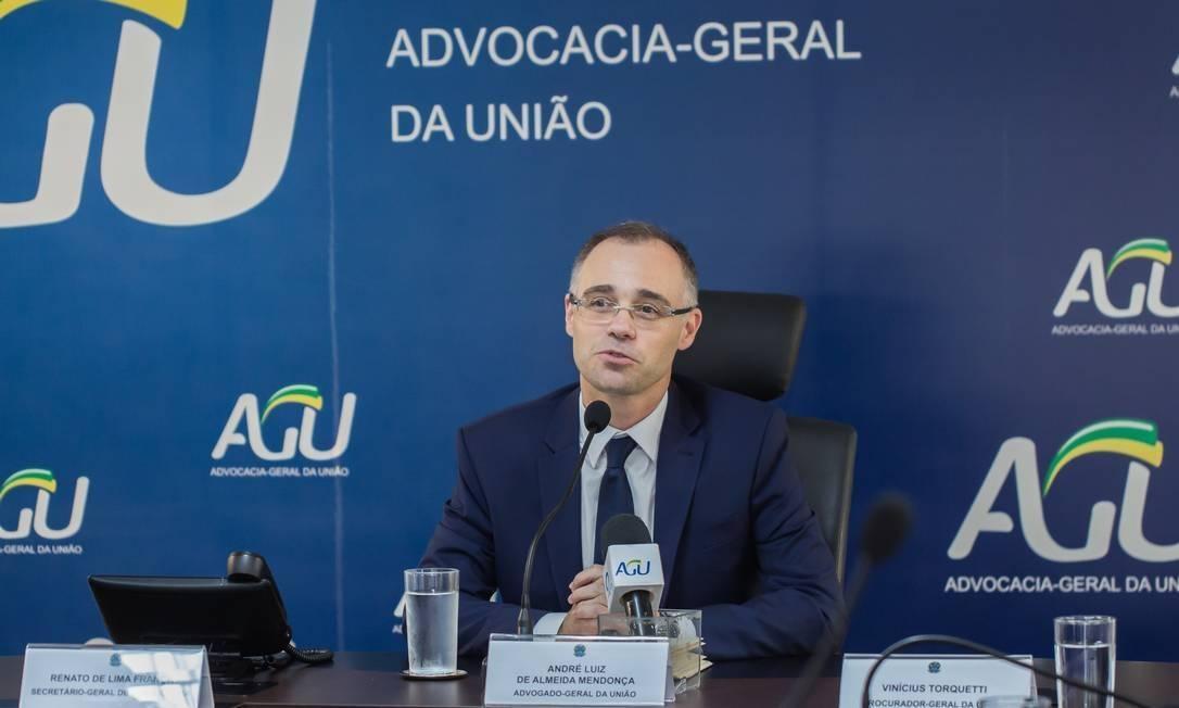 O advogado-geral da União, André Mendonça Foto: Divulgação