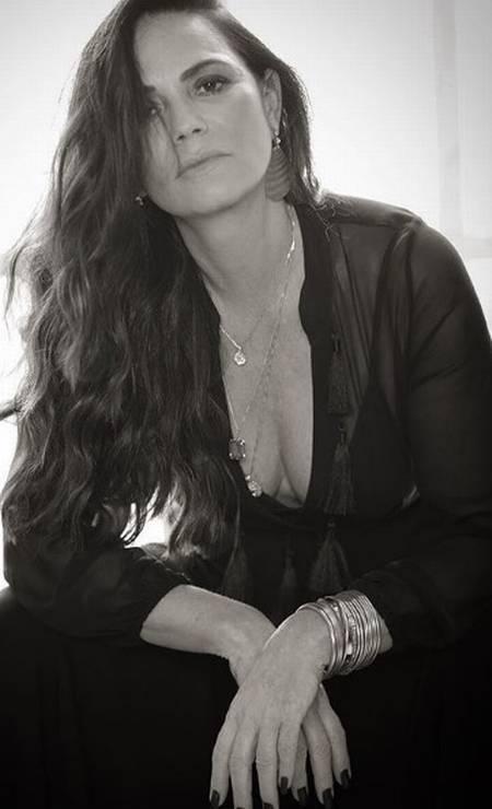 A modelo Luiza Brunet Foto: Aderi Costa