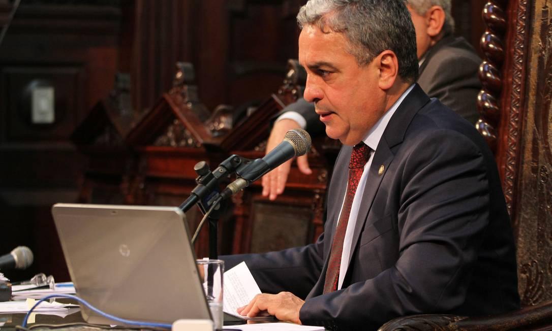 Presidente da Alerj, André Ceciliano, se diz tranquilo com as investigações Foto: Thiago Lontra