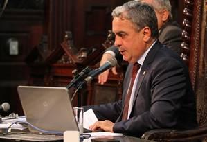 Presidente da Alerj, André Ceciliano, encaminhou proposta de emenda para implantação de indústria bélica, à comissão permanente Foto: Thiago Lontra