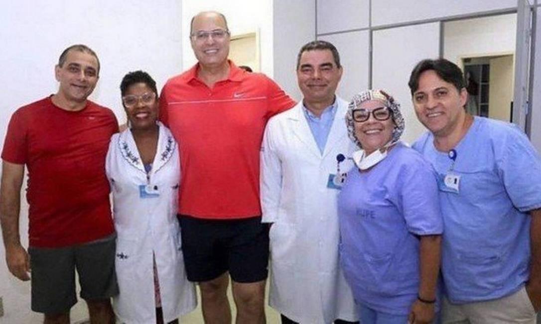 Governador realiza exames no Hospital Pedro Ernesto. Witzel prometeu, em campanha, usar apenas o sistema de saúde público Foto: Divulgação