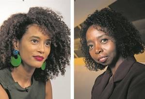 Taís Araújo (esq.) é produtora do filme sobre a cientista Joana D'Arc Félix de Souza (dir.) Foto: Divulgação/Ellen Soares (Taís) e Guito Moreto (Joana)
