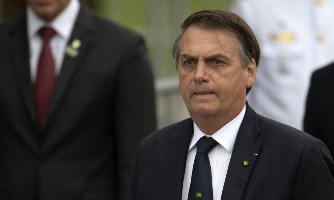 O presidente Jair Bolsonaro 08/05/2019 Foto: MAURO PIMENTEL / AFP