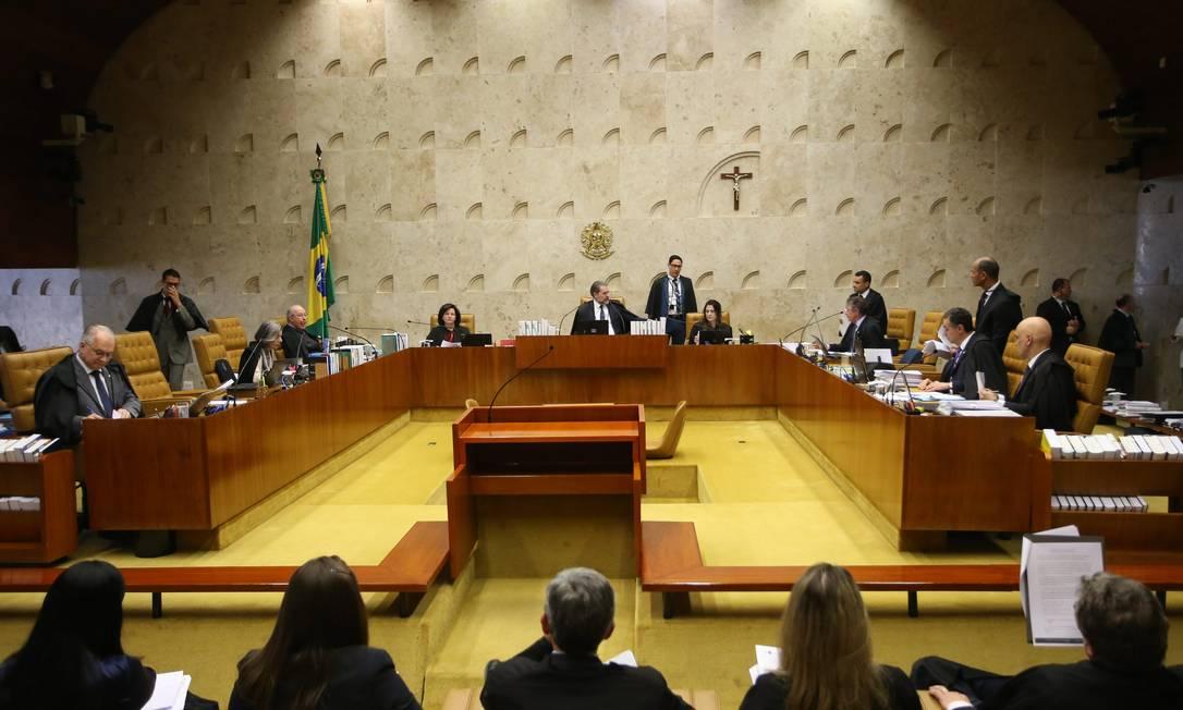 O plenário do Supremo Tribunal Federal (STF) Foto: Ailton de Freitas / Agência O Globo