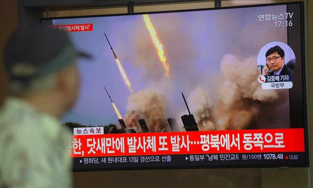 Coreia do Norte dispara dois projéteis em segundo teste de