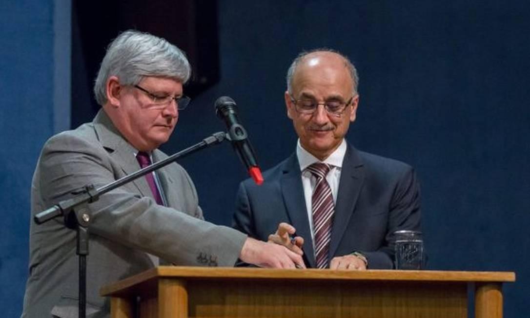 Blal Dalloul (dir) foi secretário-geral de Rodrigo Janot. Foto: João Américo / PGR