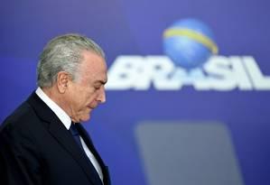O ex-presidente Michel Temer Foto: Evaristo Sá / AFP