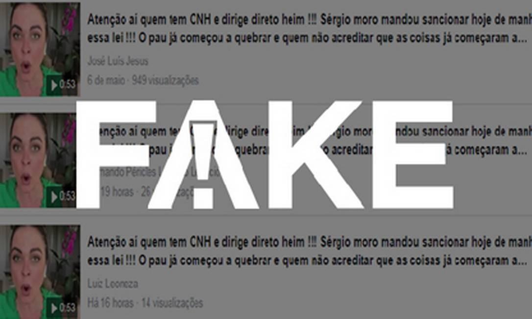 É #FAKE que Moro mandou sancionar lei que aumenta rigor sobre motorista bêbado que causa acidente Foto: Reprodução